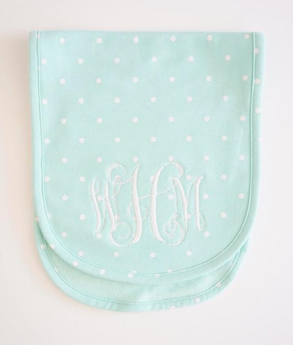 Child Monogrammed Burp Cloth