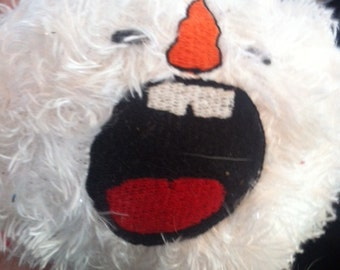 screaming snowball face embroidery file for 4X4 pes, jef, hus, exp, & xxx files