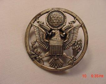 Vintage Metal American Bald Eagle Military Emblem  18 - 83
