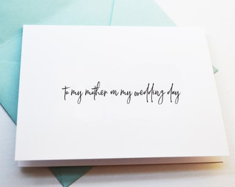 Single wedding day cards for mother father groom or bride, card to groom on your wedding day, card to bride on wedding day, card to mom/dad