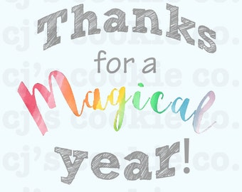 Thanks for a Magical Year Tags