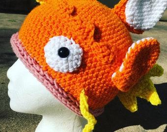Magikarp inspired hat pokemon go crochet