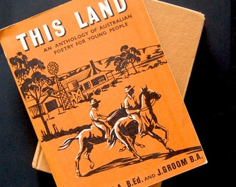 """Vintage Australian Book: """"This Land"""", Poetry for Young People HB"""