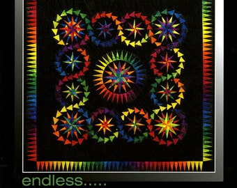 """Be Colourful Quilt Pattern - Endless - Foundation Paper Piecing - 58"""" x 58"""" - BC032"""