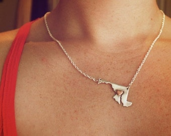 Baltimore love, Maryland necklace
