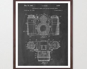 Camera Poster - Camera Art - Photography Poster - 35mm - FIlm Camera - Patent Print - Patent Poster - Photo - Photography - Old Camera