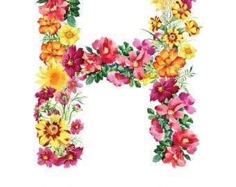 Letter H Print - Nursery Art