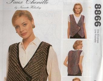 FAUX CHENILLE VEST McCall's Pattern 8866 Misses Sizes 8 - 22
