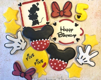 DECORATED custom mouse cookies for birthday, parties, baby, girl, boy, shower, events