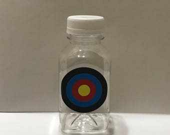 1- Archery Target 8 oz or 12 oz Vinyl Cup Plastic Milk Bottle With Lid