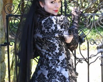Grey Gothic Dress   Dark Temptation   Gothic Wedding Gown, Victorian Costume, Tea Party Outfit, Steampunk Ball Gown, Corset Prom Dresses