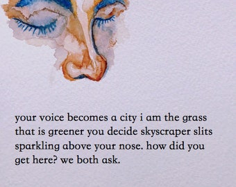 your voice becomes a city