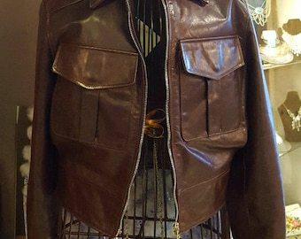 Vintage Barney's New York Leather Jacket, Biker Jacket, Vintage Leather Biker Jacket