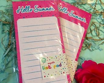 Hello Summer list pad
