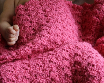 Download Now - CROCHET PATTERN Sleeping Beauty Baby Blanket - Make to Any Size - Pattern PDF