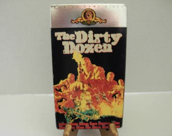 VHS Tape, The Dirty Dozen, Lee Marvin, Charles Bronson, Color, Full Screen, Free Shipping