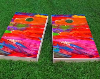 Paint Theme 2x4 Cornhole Board Set with bags   Custom Corn Hole   Bag Toss   Corn Toss   Bean Bag Toss