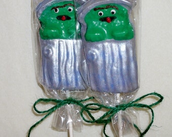 Oscar the Grouch lollipops