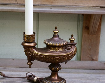 Vintage Electric Brass Aladdin Lamp