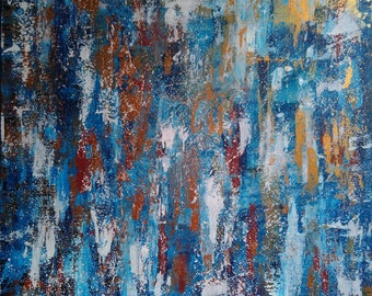 """Abstract colorful acrylic painting on canvas 24*24"""""""