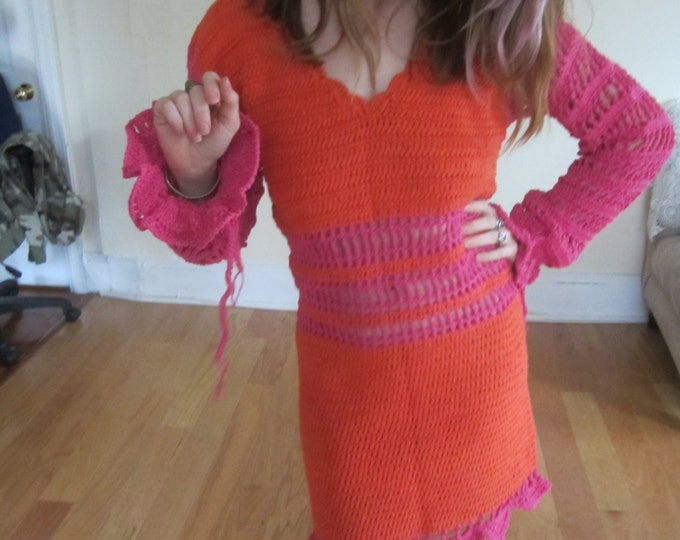 FELICITY SHAGWELL DRESS, Adult Halloween Costume, crochet dress, Fecility shagwell's crochet dress, Felicity Shagwell Costume, Halloween