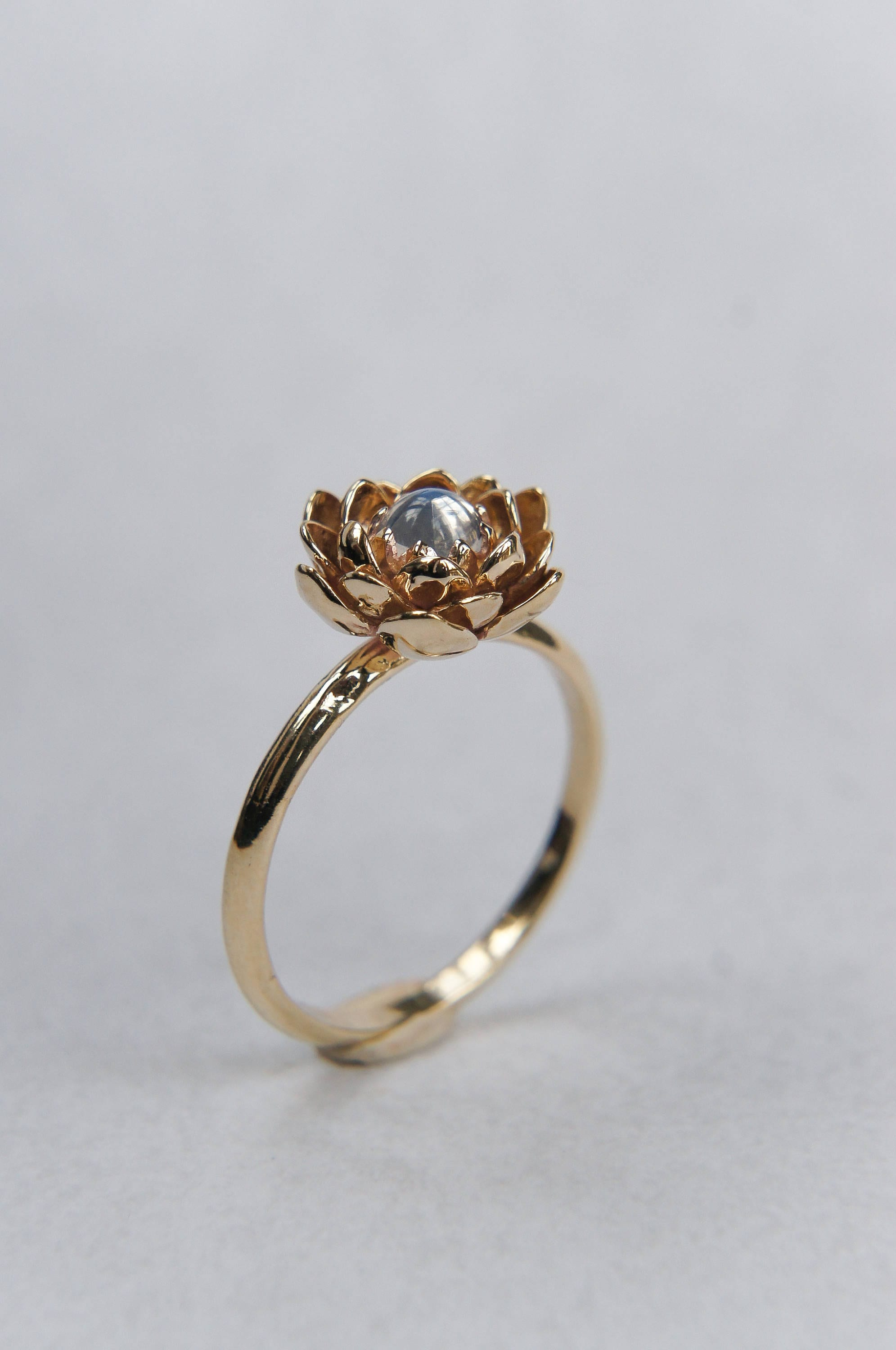 beautiful engagement lotus ring flower with rings diamond design