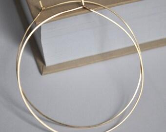 Gold Hoop Earrings Ball Endless Small Sleeper Hoops 8mm