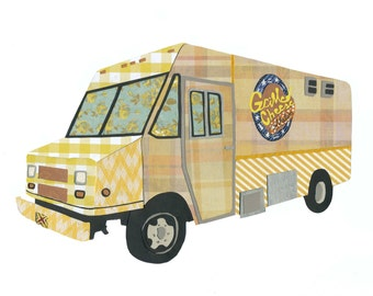Grilled Cheese Nation 5x7 Print: Boston Food Truck Love