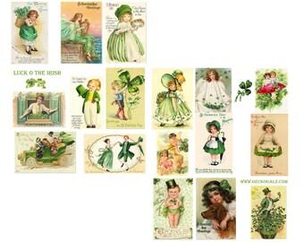 LUCK O THE IRISH digital collage sheet