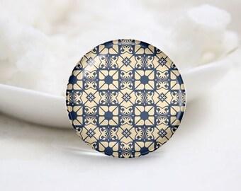 Handmade Round Tiling Photo Glass Cabochons (P3544)