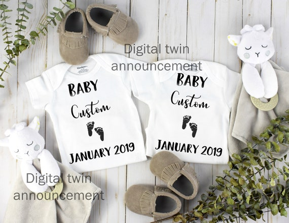 Twin Social Media Baby Announcement