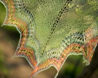Lace cotton bamboo shawl