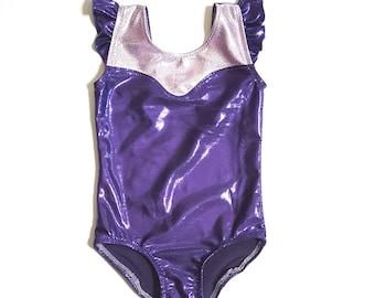 Princess Leotard - Girls Leotard - Gymnastics Leotard - Ballet Leotard - Toddler Leotard- Tumbling Leotard - Sparkle Leotard - Shiny Leotard