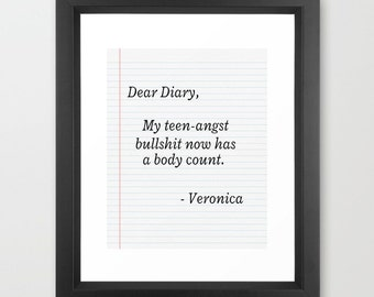 Heathers Movie Teen Angst Quote Diary 80s 8x10