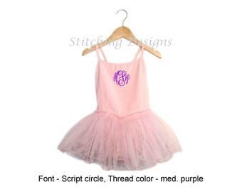 Toddler leotard with tutu attached, Toddler ballet leotard, Personalized tutu, Pink, Red, Lavender, Light Blue or Black, 2T and 4T