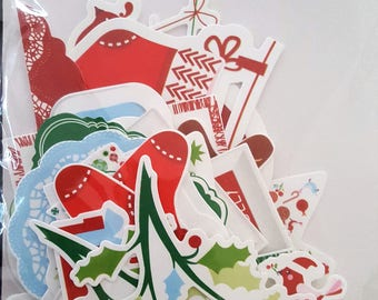 Kaisercraft Collectables Santa's List Various Size and Shape Diecut Christmas  Scrapbooking Card Making Off Page Projects  Embellishment