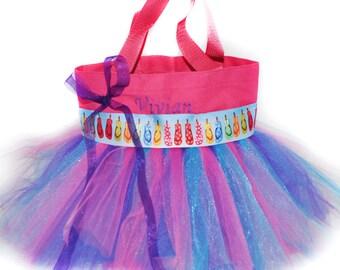 Beach Bag, Tutu Bag, Dance Bag, Flip Flop Ribbon Free Monogram Name Embroidered on the Bag. Personalized Girl, Ballet Bag, Beach Bag