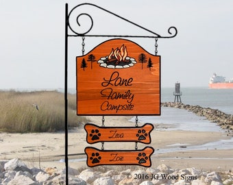 Personalized RV Camping Sign Etsy - RV Name Sign w 2 add ons - w RV Sign Holder Option Custom Camp Sign JGWoodSigns Lane