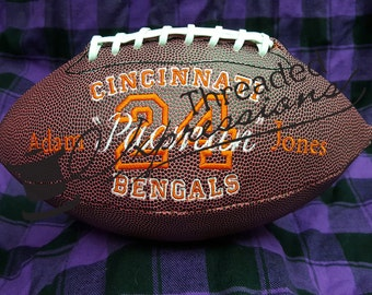 Custom Embroidered Footballs