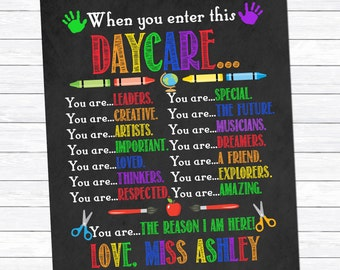When you enter this Daycare Print, Daycare Provider Gift, Gift for Childcare Provider, Early Childhood Educator, ECE, Digital Download Print