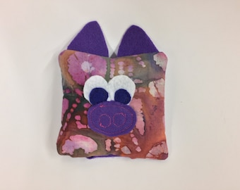 Pig Boo Boo bag friend - Pig boo boo bag - Pig cold pack - Pig hot pack - Pig rice pack - booboo bag - purple piggy