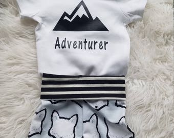 Going Home Outfit - Adventurer Light Blue Fox with Black Stripe