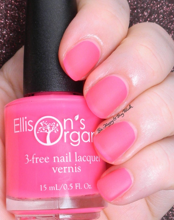 MATTE Neon Pink Nail Polish - Glow in the Dark Nail Polish - Matte ...