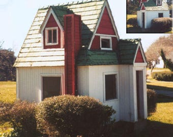 Cuteness Cottage playhouse / fort plans