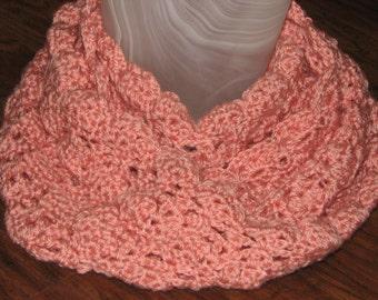 CROCHET PATTERN - Lace Infinity Scarf / Crochet Lacy Scarf