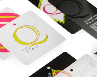 "250 hang tags or Bookmarks - 2""X5"" size - 14 PT glossy, UV coated - full color - custom printed"