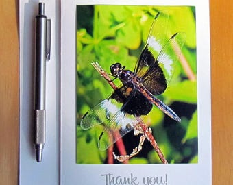 Dragonfly Thank You Card, Thank You Notes, Greeting Cards, Thank You Cards, Nature Cards, Handmade Cards, Photo Cards, Stationery, Cards