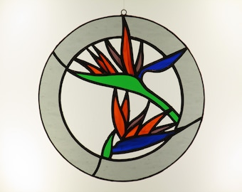 Stained Glass Bird of Paradise - Procie Includes Shipping