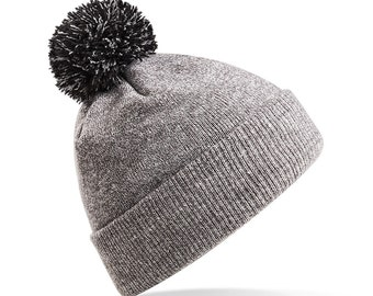 Three To The Sea Snow Star Bobble Beanie Hat