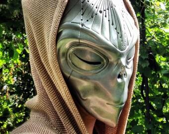Alien Mask, Halloween Mask Masquerade Mask Futuristic Headpiece Mask Reptiles Alien Helmet Space Face Space Mask Carnival Mask Mask Festival